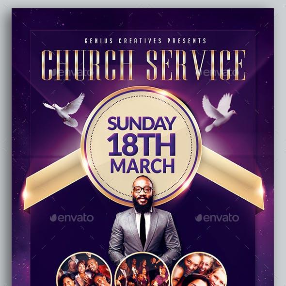 Church Service Flyer Template