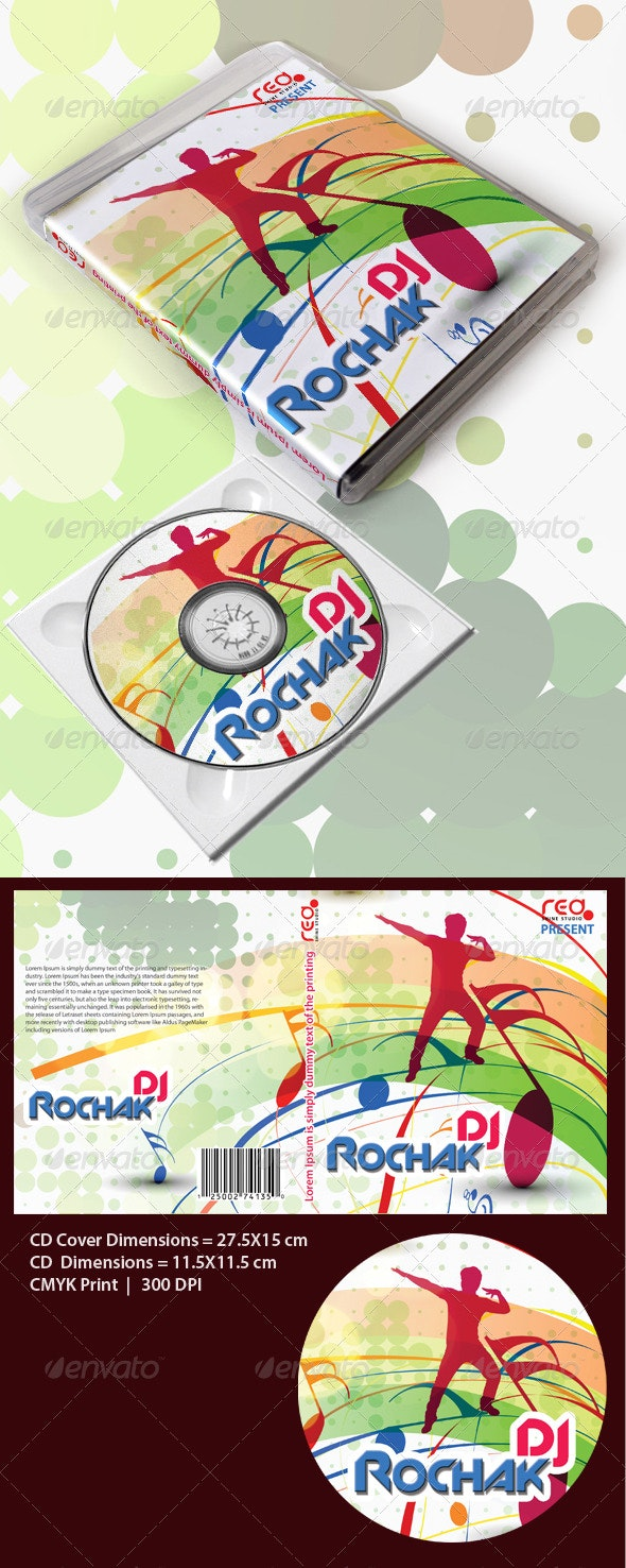 Music Disk Cover/Box Template