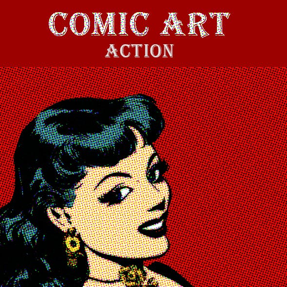 Comic Book Photo Filter - Photoshop Action
