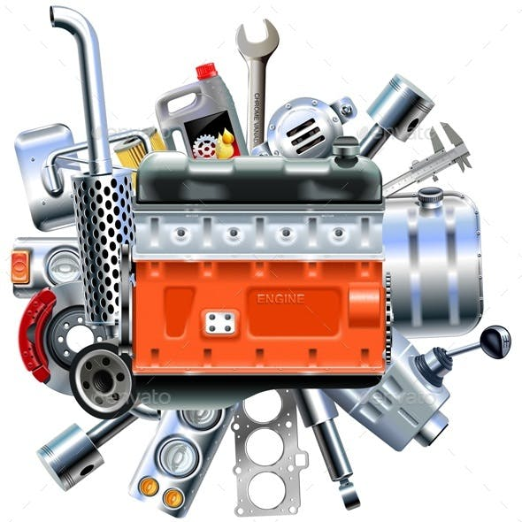 Vector Engine with Truck Spares