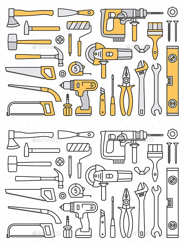 Building Tools Icons - Man-made Objects Objects
