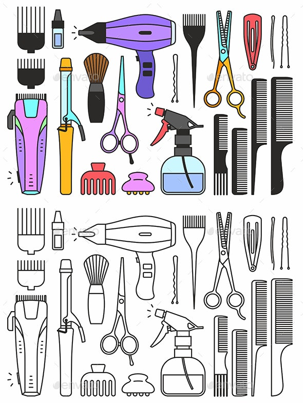 Barber Shop Tools - Man-made Objects Objects