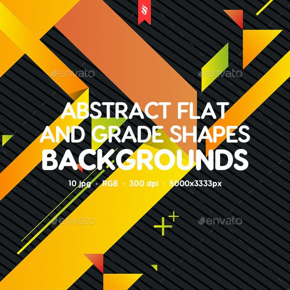 Abstract Flat and Grade Shapes Backgrounds