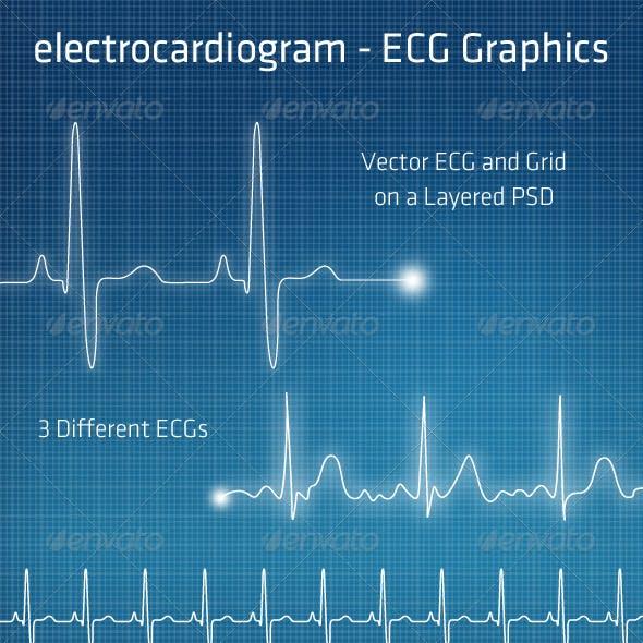 ECG - Electrocardiogram Background Elements