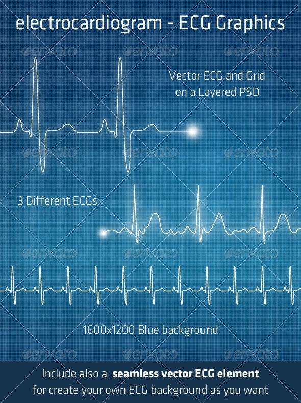ECG - Electrocardiogram Background Elements - Technology Conceptual