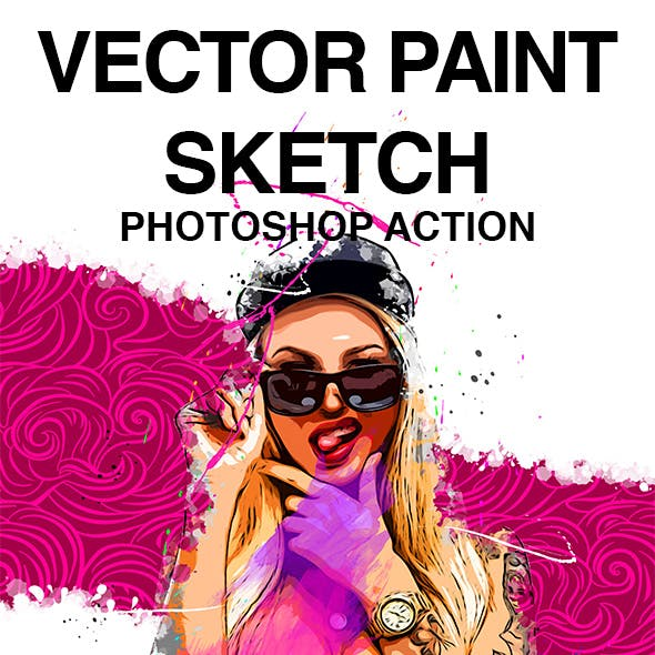 Vector Paint Sketch Photoshop Action