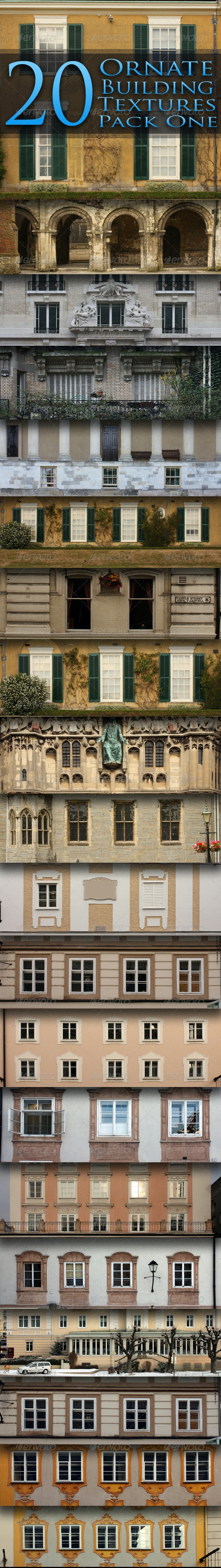 20 Ornate Building Facade Textures - Pack One - Miscellaneous Textures