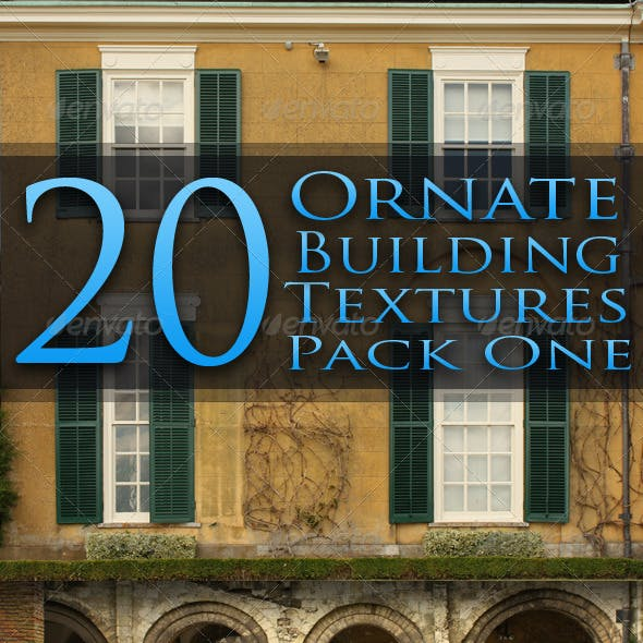 20 Ornate Building Facade Textures - Pack One