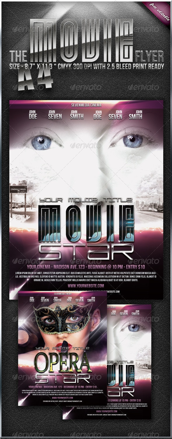 Movie Event Flyer / Poster - Clubs & Parties Events
