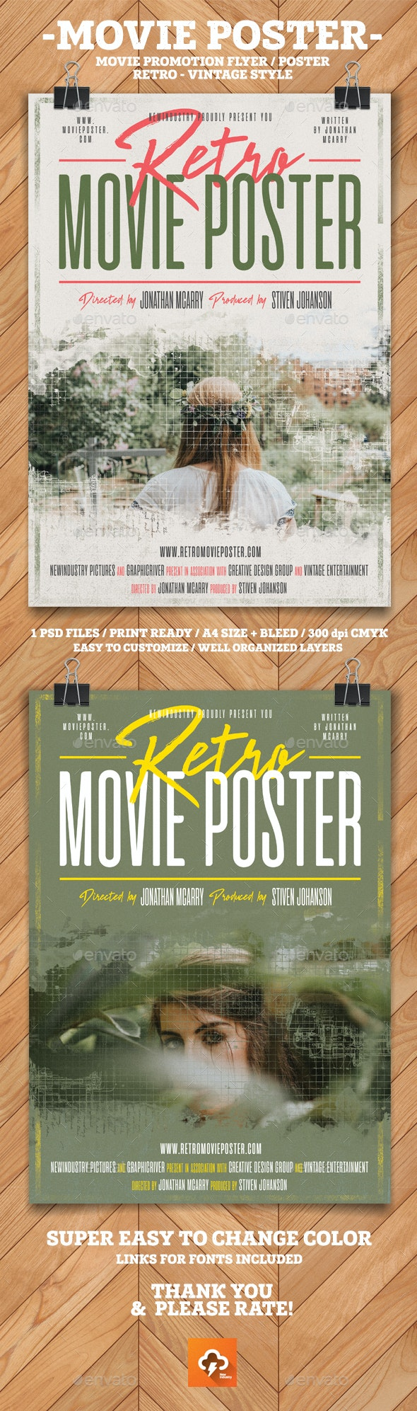 Retro Movie Poster - Events Flyers