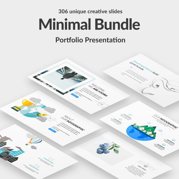 3 in 1 Minimal Portfolio Bundle Keynote Template