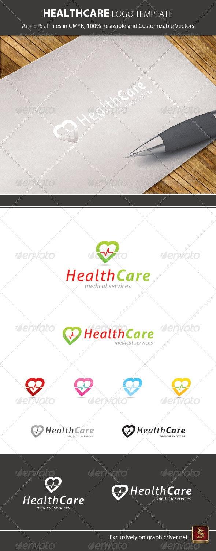 Health Care Logo Template - Vector Abstract