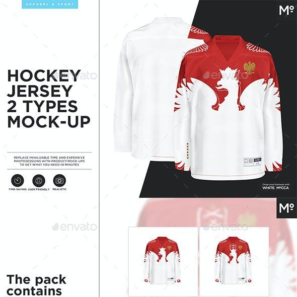 Hockey Jersey 2 Types Mock-up