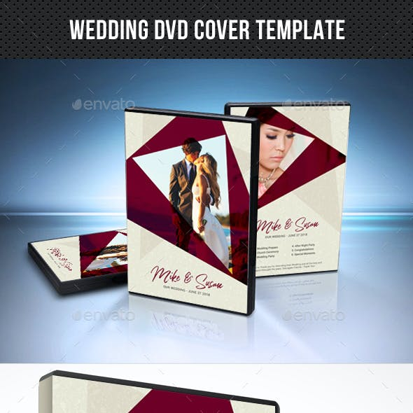 Wedding DVD Cover Template 24