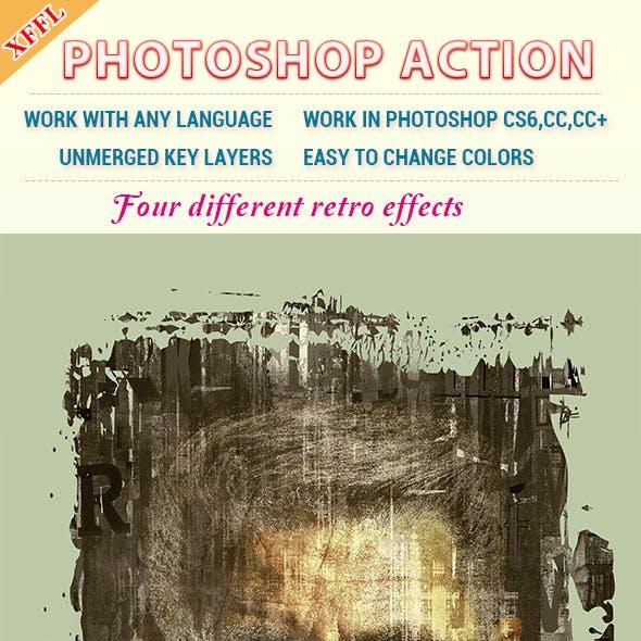 Retro Effect Photoshop Action
