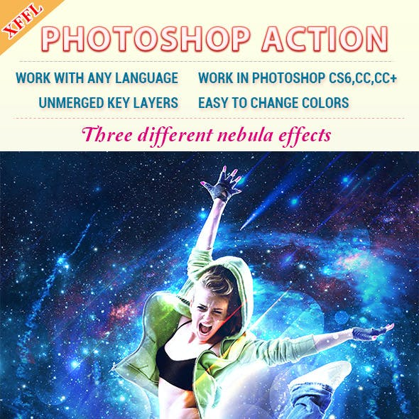 Nebula Effect Photoshop Action