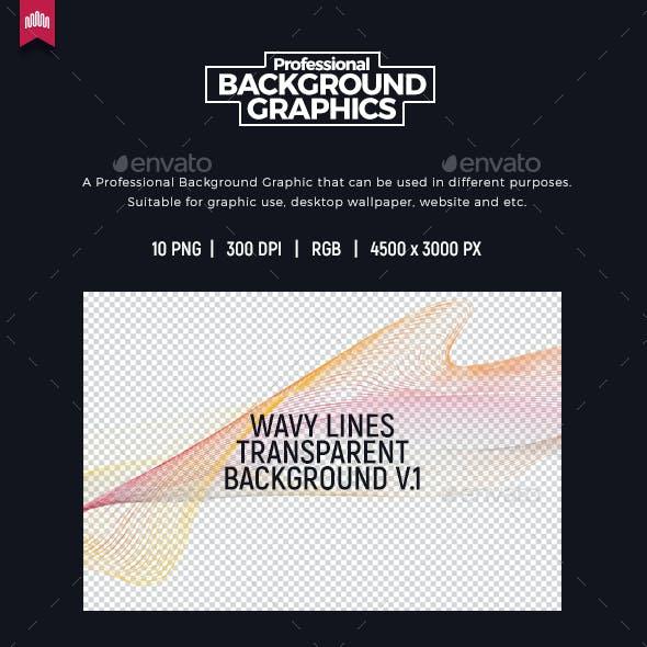 Wavy Line Transparent Background V.1