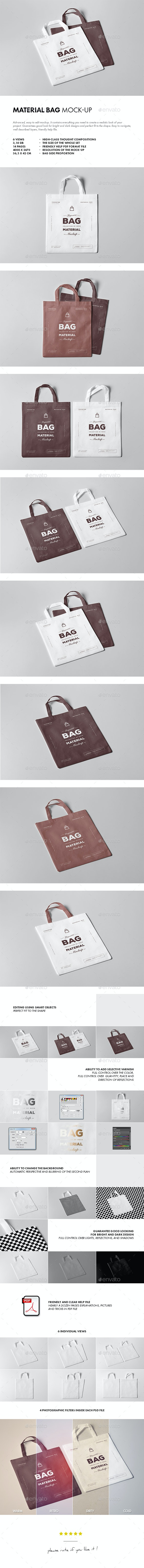 Material Bag Mock-up - Miscellaneous Product Mock-Ups