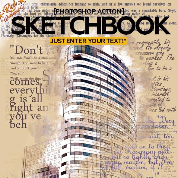 Sketch Book Photoshop Action