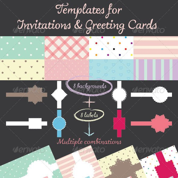 Templates for Invitations & Greeting Cards