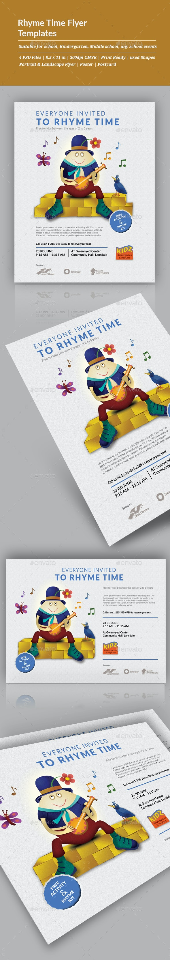 Rhyme Time Flyer Templates - Events Flyers