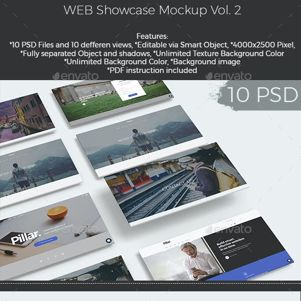Web Showcase Mockup (Vol.2)