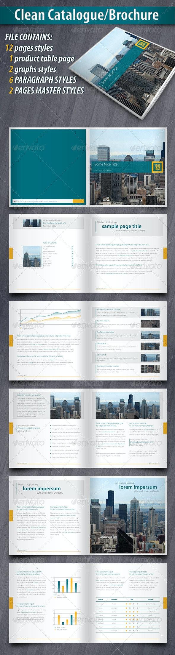 Clean Catalogue/Brochure - Corporate Brochures