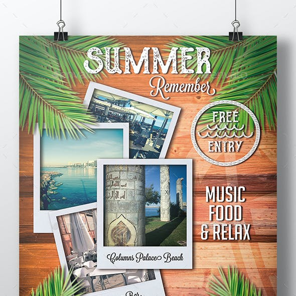 Summer Time Flyer Template
