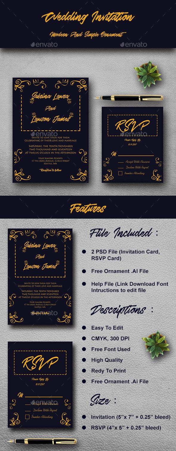 Wedding Invitation Tempelate - Weddings Cards & Invites