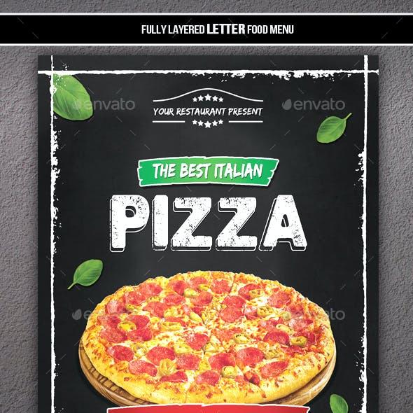 Simple Pizza Menu