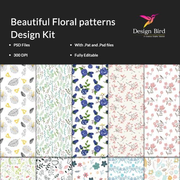 15 Beautiful Floral Patterns Kit