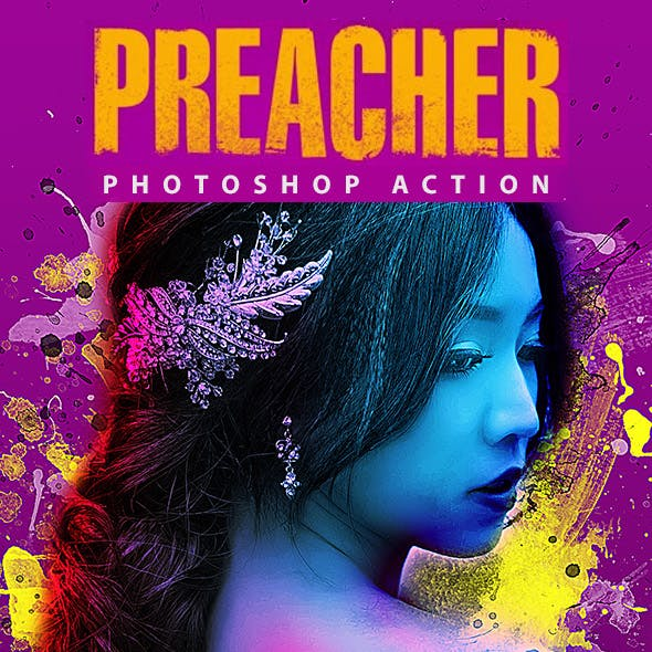 Preacher Photoshop Action