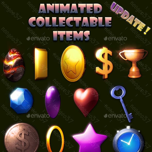 Animated Collectable Items