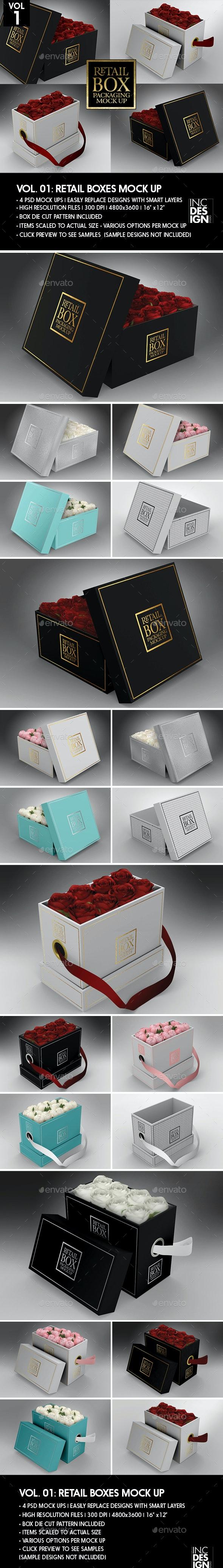 Retail Boxes Vol.1: Box Packaging Mock Ups - Packaging Product Mock-Ups