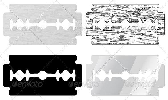 Blade razor - Objects Vectors