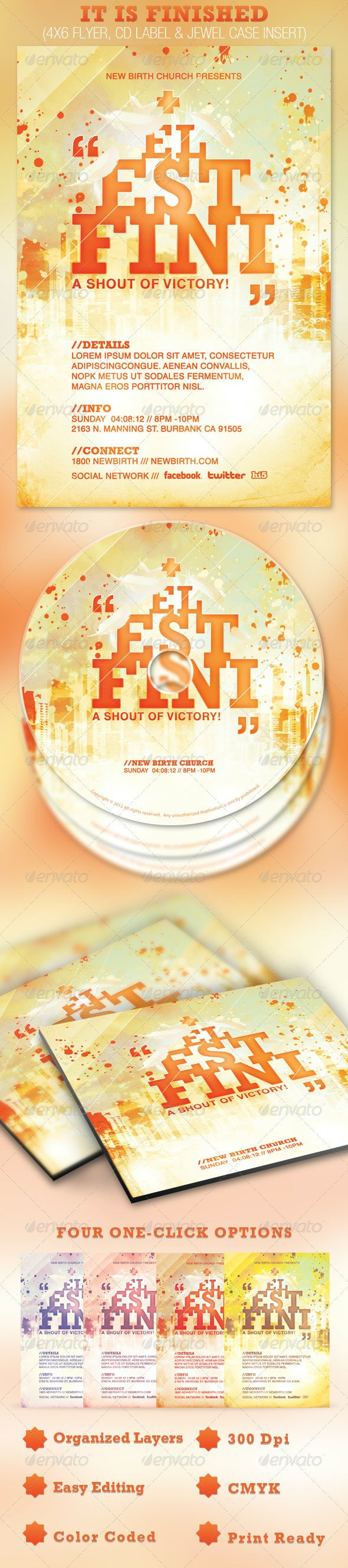 It is Finished Church Flyer and CD Template - Church Flyers