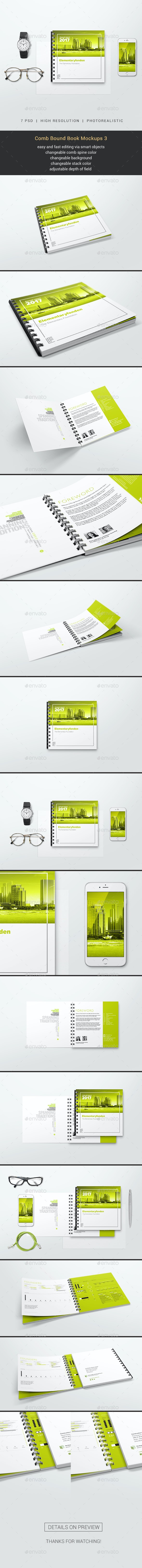 Comb Bound Book Mockups 3 - Books Print
