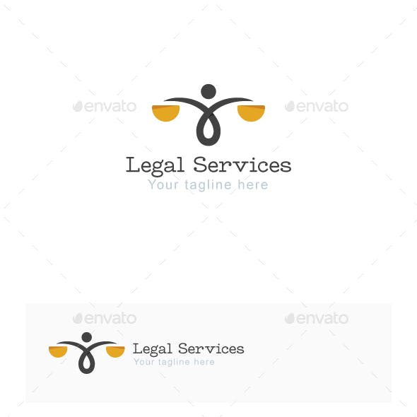 Legal Services Stock Logo Template
