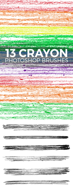 13 Wax Crayon Photoshop Brushes - Brushes Photoshop