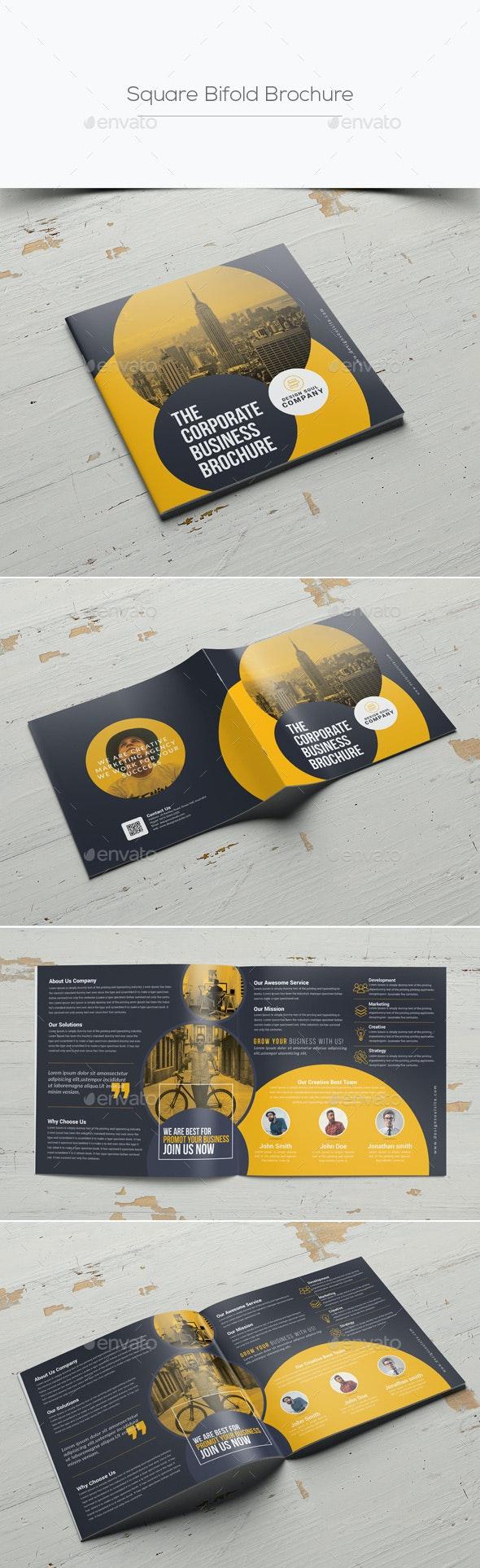 Square Bifold Brochure - Corporate Brochures