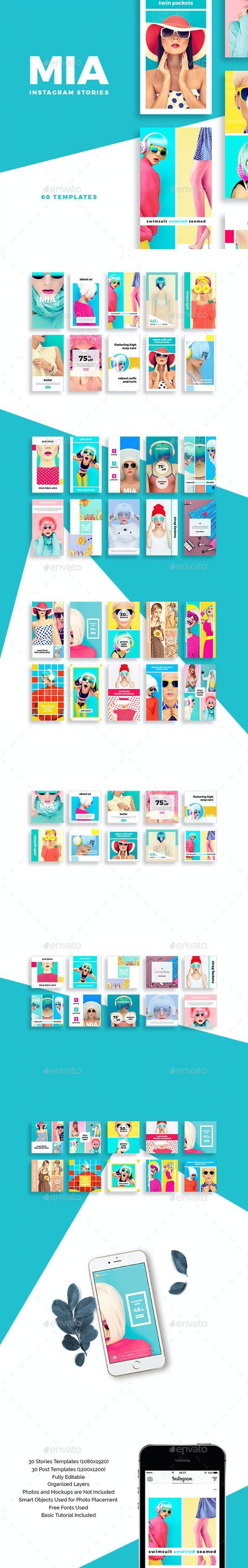 Mia Instagram Stories Pack - Social Media Web Elements