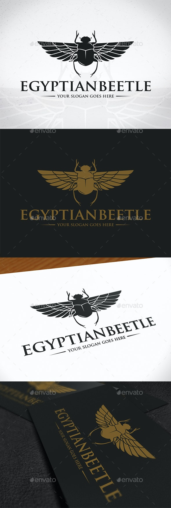 Egyptian Beetle Logo Template