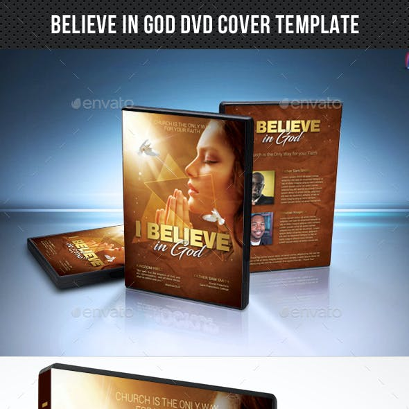 Believe In God DVD Cover Template