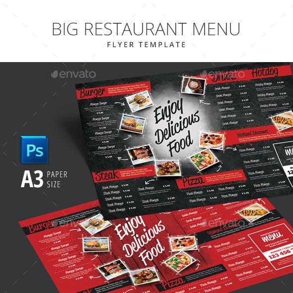 Big Restaurant Menu