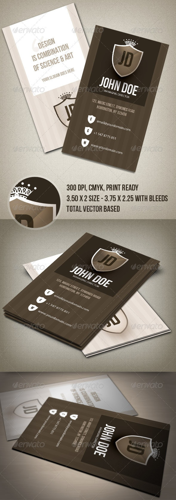 Clean & Ceative Business Card - Corporate Business Cards
