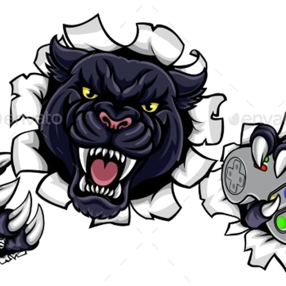 Black Panther Angry Sports Mascot
