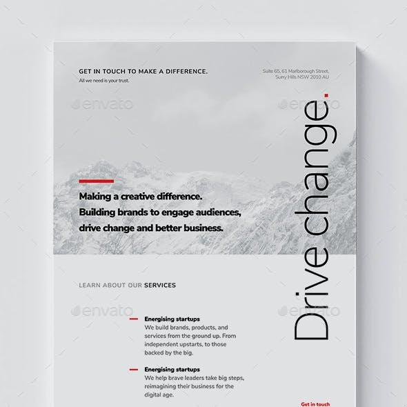 Corporate Flyer A4 / Brochure / Minimal & Clean