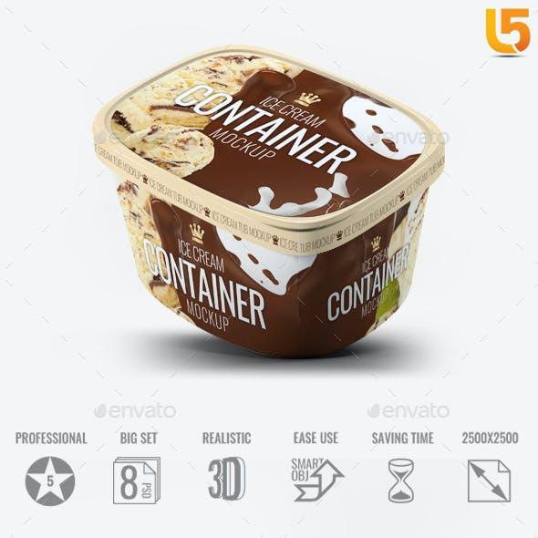 Ice Cream Container Mock-Up