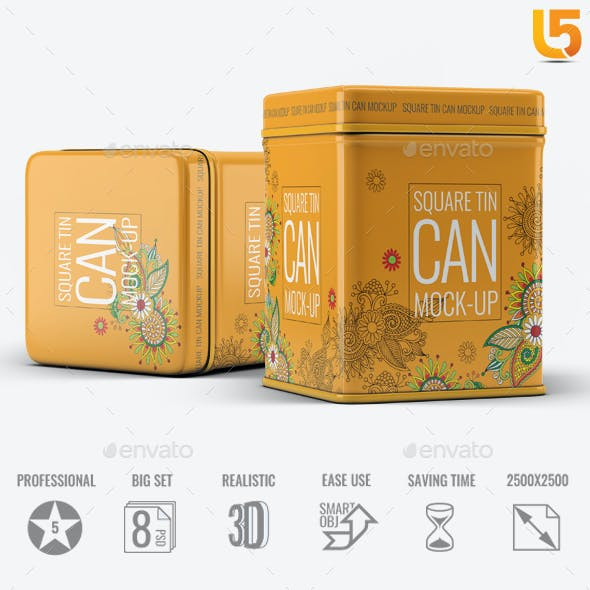 Square Tin Can Mock-Up