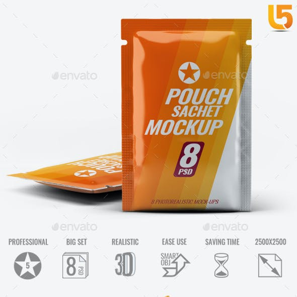 Pouch Sachet Mock-Up